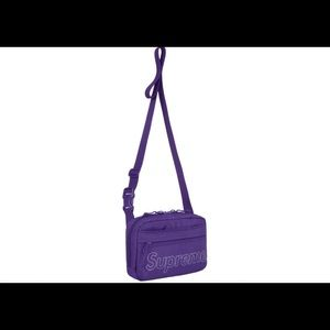 Authentic Supreme FW18 Purple Shoulder Bag